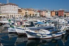 City harbour in Rovinj royalty free stock photos