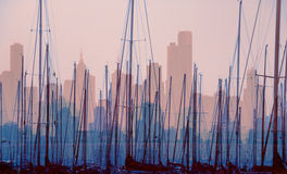 City Harbour Skyline Stock Photography