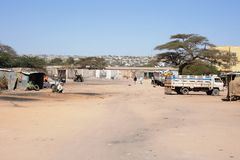 City of Hargeisa. African city of Hargeysa on the territory of Somaliland Stock Photos