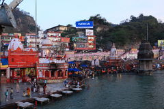 The City of Haridwar in India Stock Image