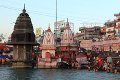 The City of Haridwar in India Stock Photos