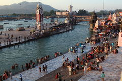 The City of Haridwar in India Stock Images