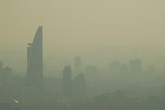 City Haze. City Skyline of KL, Malaysia royalty free stock image