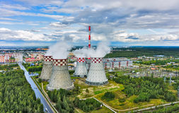 City heating and power plant. Tyumen. Russia Stock Images