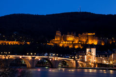 City of Heidelberg at Night Royalty Free Stock Image