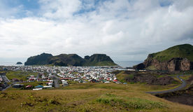 City at Heimaey island, Iceland Royalty Free Stock Photo