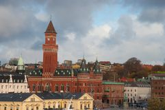 City of Helsingborg in Sweden. On an autumn day Royalty Free Stock Images