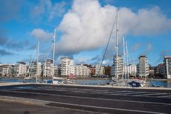City of Helsingborg, Sweden. On a cloudy autumn day Stock Photo