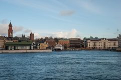 City of Helsingborg, Sweden. On a cloudy autumn day royalty free stock photography