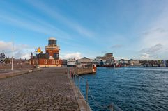 City of Helsingborg, Sweden. On a cloudy autumn day stock photos