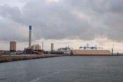 City of Helsingborg, Sweden. Industrial port of city of Helsingborg, Sweden Stock Images