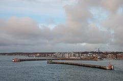 City of Helsingborg, Sweden. Port of city of Helsingborg, Sweden Stock Image