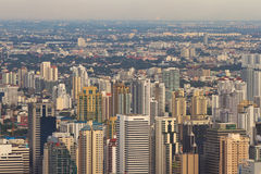 City High Angle. In Bangkok Thailand Royalty Free Stock Photos