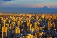 City High Angle. In Bangkok Thailand Royalty Free Stock Photography