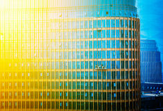 City high-rise building glass curtain wall Stock Photo