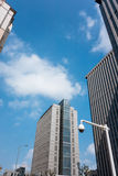 City high-rise buildings and the surveillance camera Stock Image