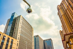 City high-rise buildings and the surveillance camera Stock Photography