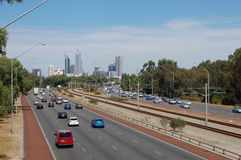 City highway. Highway which is placed up to north of Perth city center Stock Photography