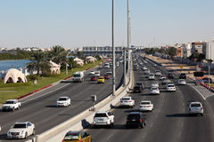 City highway in Abu Dhabi Royalty Free Stock Images