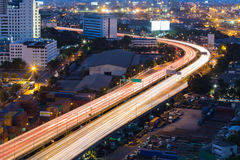 City highway curved at night long exposure Stock Photography