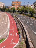 City Highway and Cycle Path Stock Photos