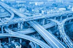 City highway interchange closeup Stock Image