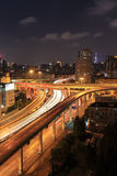City highway overpass at night Stock Photography