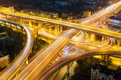 City highway overpass at night Stock Image