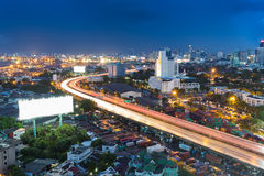 City highway road curved long exposure Royalty Free Stock Photography