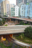 City highways. In Hong Kong royalty free stock images