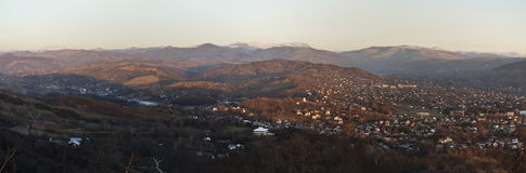 City and hills panorama Royalty Free Stock Photo