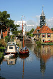 City of Hindeloopen(Friesland). In the northern part of Holland Stock Image