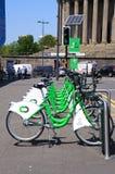 City hire bikes, Liverpool. Stock Photography