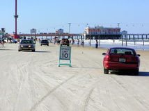 Daytona Beach allows vehicles to drive on the beach royalty free stock image