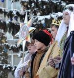 City Holiday Christmas carols_10 Royalty Free Stock Photo