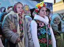City Holiday Christmas carols_13 Royalty Free Stock Photos