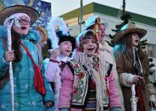 City Holiday Christmas carols_16 Royalty Free Stock Photo