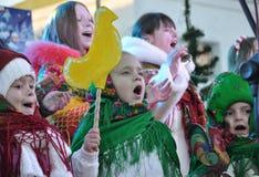 City Holiday Christmas carols_21 Royalty Free Stock Image
