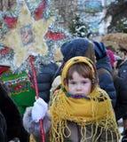 City Holiday Christmas carols_15 Royalty Free Stock Photo