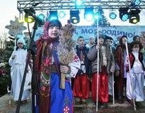 City Holiday Christmas carols_23 Royalty Free Stock Photography