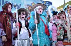 City Holiday Christmas carols_17 Stock Images