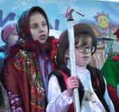 City Holiday Christmas carols_29 Royalty Free Stock Photo