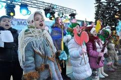 City Holiday Christmas carols_19 Royalty Free Stock Photo