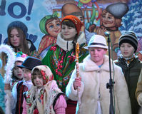 City Holiday Christmas carols_33 Royalty Free Stock Image