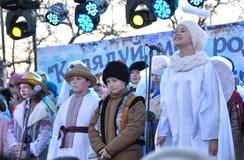 City Holiday Christmas carols_22 Stock Photography