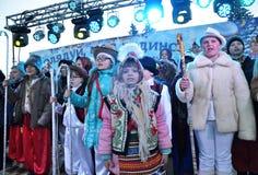 City Holiday Christmas carols_27 Royalty Free Stock Photo