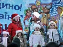 City Holiday Christmas carols_42 Royalty Free Stock Photography