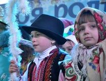 City Holiday Christmas carols_30 Stock Images
