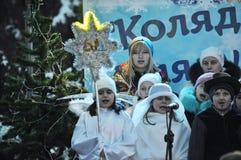 City Holiday Christmas carols_35 Royalty Free Stock Photos