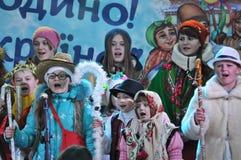 City Holiday Christmas carols_38 Royalty Free Stock Photo